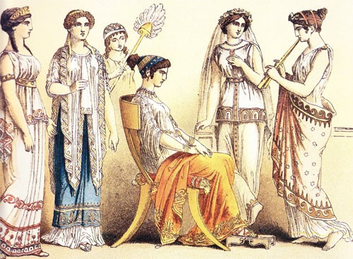 There Were Also Other Types Of Garments Derived From The Basic Tunics Such As Chiton Was Worn By Greek Men Made Linen Which Is